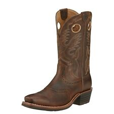 """Ariat 10002227 Heritage Roughstock 12"""" Pull On Square Toe Western Cowboy Boots"""