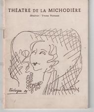 Programme THEATRE DE LA MICHODIERE Yvonne Printemps TOUCHAGUES Le Ciel de Lit 53