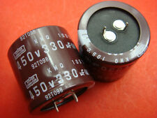 4PC NIPPON 450V 330uF 105?capacitors 30mmX33mm NEW