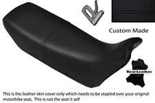Black stitch personnalisé fits honda nx 650 dominator 89-91 double housse siège en cuir
