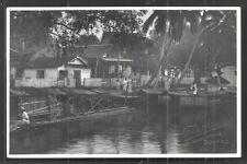 Bandjermasin rppc House Fuse Borneo Indonesia stamp 1931