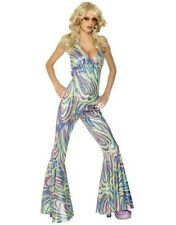 70s 1970s 70's Dancing Queen Catsuit Fancy Dress Costume M 12-14 New by Smiffys