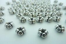 80 pce Metal Antique Silver Flower Spacer Beads 7.5mm x 4mm