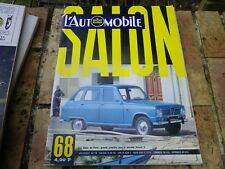 L'AUTOMOBILE magazine 269 SPECIAL SALON 1968 + SUPPLEMENT SPORT MECANIQUE