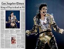Michael Jackson Newspaper 2009 Farrah Fawcett Los Angeles Times King Of Pop MT
