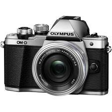 Olympus OM-D E-M10 Mark II Mirrorless Digital Camera w/ 14-42mm EZ Lens- Silver