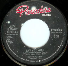 Leon & Mary Russell – Say You Will - 45 RPM