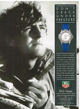 Publicité Advertising 1992 La Montre Tag Heuer Serie 4000 automatique