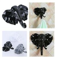 Elephant Head Self Adhesive Wall Door Hook Hanger Bag Keys Sticky Holder
