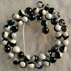 V3529-r 8mm Faceted Drop Color Agate Ball Loose Beads 14.5''