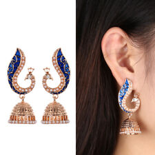 Unique Gypsy Jewelry Ethnic Indian Peacock Earrings Jhumka Jhumki Retro