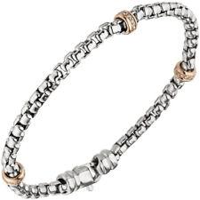 NEU Diamanten Armband Weißgold Rosegold 585er echt Gold 19 cm Armkette 14 Karat
