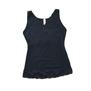 Flexees Maidenform Shapewear black tank base 1x Smooth Stretch Lace Cami 21-2585