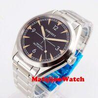 Corgeut 41mm 5ATM Automatic men's watch sapphire glass black dial luminous