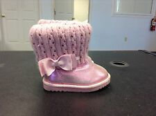 Arizona Jeans Pink Shimmer Winter Boots Girls Size 5 Toddler