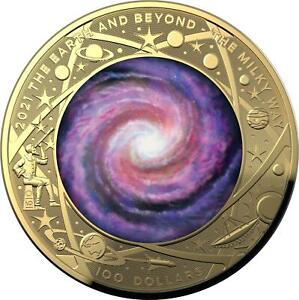 Australia 2021 Milky Way- The Earth & Beyond RAM 1oz Gold Proof Domed Coin # 187