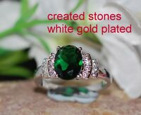 3ct 6x8mm oval emerald ring size P 8