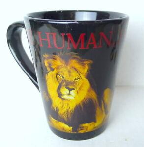 Here Human Human MGM Grand Lion Habitat Hotel Coffee Mug DEFUNCT 2011 RARE ITEM