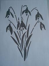 Schablone Schneeglöckchen auf A4