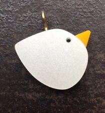 INCANTEVOLE, divertente Bird ciondolo-blu, bianco e giallo acrilico-Ideale regalo!