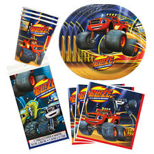 Blaze and The Monster Machines Birthday Party Tableware Pack Kit For 16
