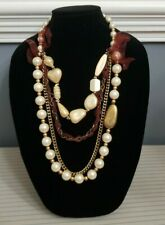 STATEMENT COSTUME JEWELRY – LARGE PEARL COCKTAIL NECKLACE! – MSRP: $37.99