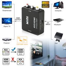 RCA AV To HDMI HDTV Converter For Nintendo NES SNES N64 Gamecube Wii Sega PS2 US