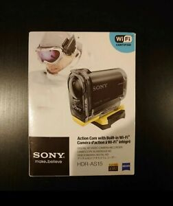 Sony HDR-AS15 Action Cam - Digital HD 1080p Video Camera Recorder - WiFi - New