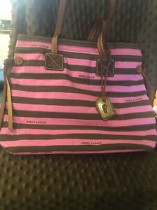 Dooney & Bourke Victoria Tote-AUTHENTIC-Pink And Brown
