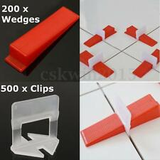 700 Tile Leveling System - 500 Clips + 200 Wedges Plastic Spacers Tiling Tools