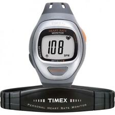 Watch Heart Rate Monitor Timex t5g941 Easy Trainer Grey Silicone + Band