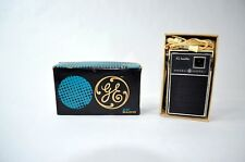 Vintage General Electric GE Transistor AM Radio P1757 Original Box and Ear Phone