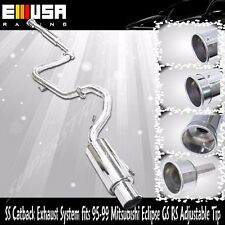 """Catback Exhaust for 95-99 MITSUBISHI ECLIPSE GS/RS 2.5"""" 1.9"""" Adj. Silencer Tip"""