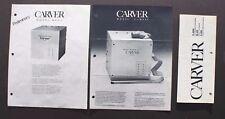3 Vintage Carver M400 High Fidelity Control Console Sales Brochure
