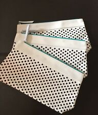 3 * Clinique Cosmetic Bag Faux Leather WHITE GWP #0417S New