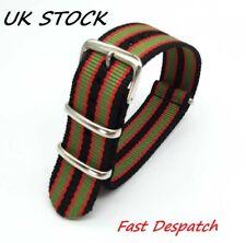 For Nato Watch Strap Black /Olive /Red Regimental Bond 20mm Quality Nylon Strong
