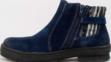 Earth Origins Ladies Tate Suede Ankle Boots Aztec Sweater Navy Choose Size