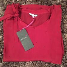 Una donna fuori per andare/Smart Impreziosito Prugna Blusa Taglia 14 NUOVO con etichetta prezzo consigliato: £ 29.50