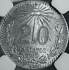 1919 Mexico 20 Centavos NGC MS 63 (M414)