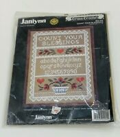 Janlynn Vintage Cross Crochet Stitch Kit COUNT YOUR BLESSINGS #02-204 NOS
