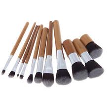 9 Pieces Bamboo Wood Handle Eyeshadow Foundation Concealer Make up Brush Set