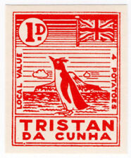 (I.B) Tristan da Cunha Postal : Local Post 1d (Penguin)