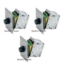 3 Pack 70V Stainless Volume Control Wall Plate 100 Watt 25 Attenuator AT100 x3