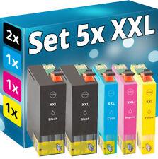 5x XL Tinte Patrone für Epson Workforce Pro WF-3720DWF WF-3725DWF Set Multipack