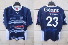 Maillot rugby SUA AGEN porté n°23 PUMA shirt bleu marine moulant collection L
