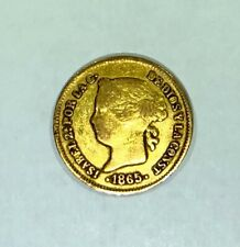 Philippines Spanish Isabel II Gold Coin - 1 Peso 1865