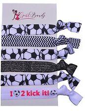 Soccer Hair Accessories, Soccer Hair Ties, No Crease Soccer Hair Elastics Set