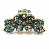 New Woman's Crystal Rhinestones butterfly Metal Hair Claws Clips Bridal claws