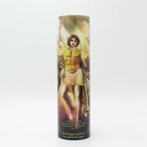 Saint Gabriel Devotional LED Flameless Prayer Candle with 6 Hour Timer