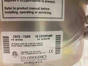 CTI Cryogenics CT-10 Cryo-Torr 10 pump - Refurbished by CTI